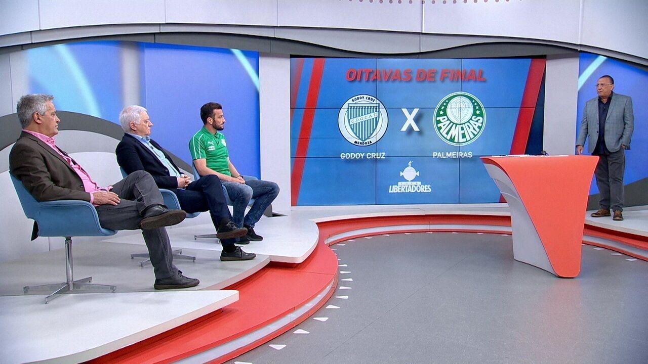 Galvão Bueno anuncia que Godoy Cruz é o adversário do Palmeiras