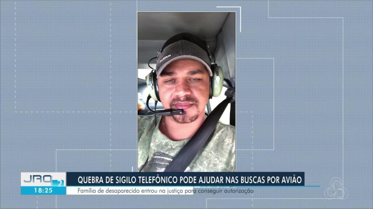 Família de um ocupante de avião que sumiu após sair de RO pede quebra de sigilo telefônico