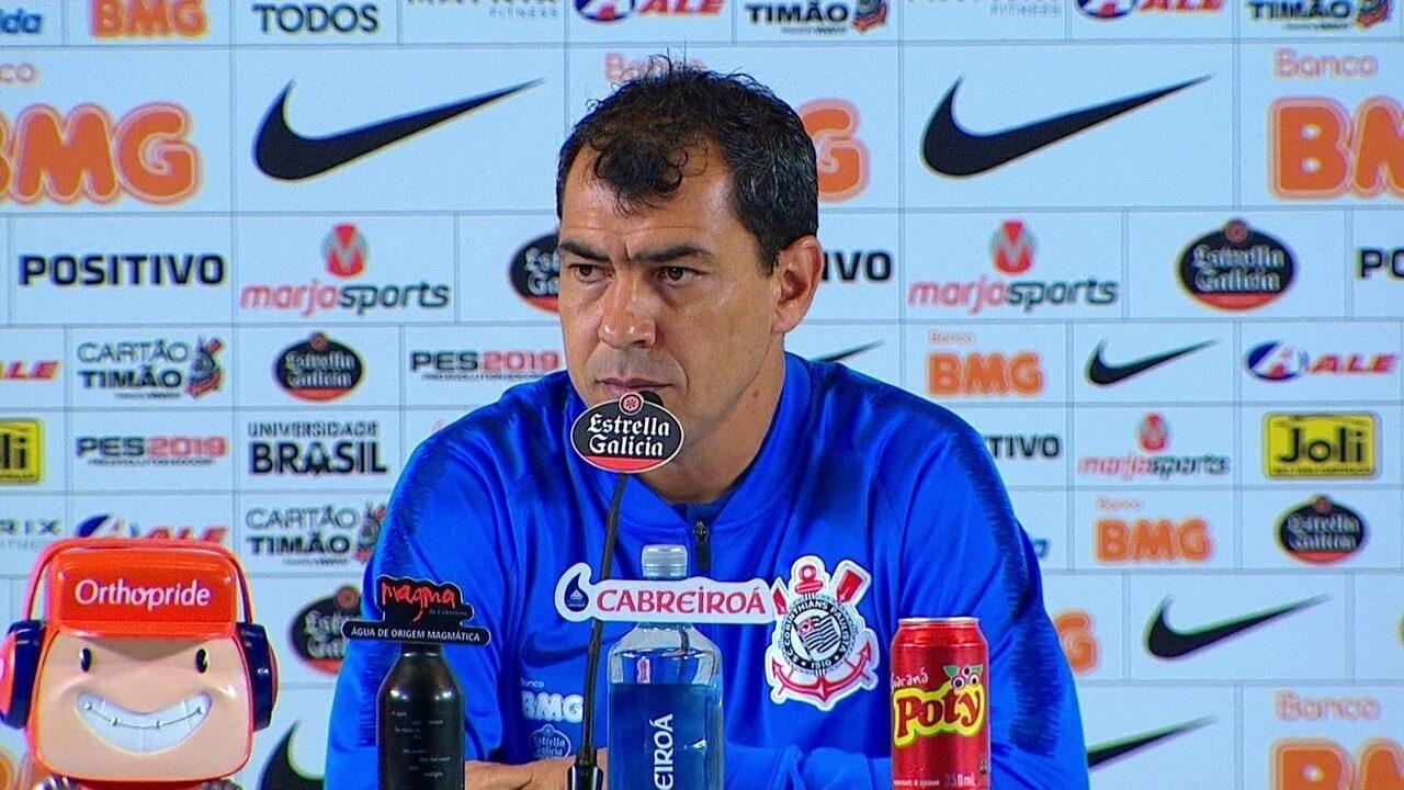 Corinthians 0 x 1 Flamengo: veja a coletiva de Fábio Carille