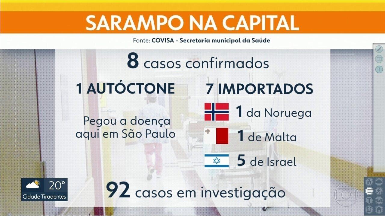 Secretaria confirma primeiro caso de sarampo contraído na própria capital