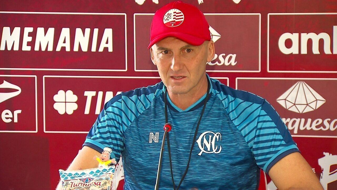 Dal Pozzo concede entrevista coletiva antes de jogo do Náutico contra o Treze-PB