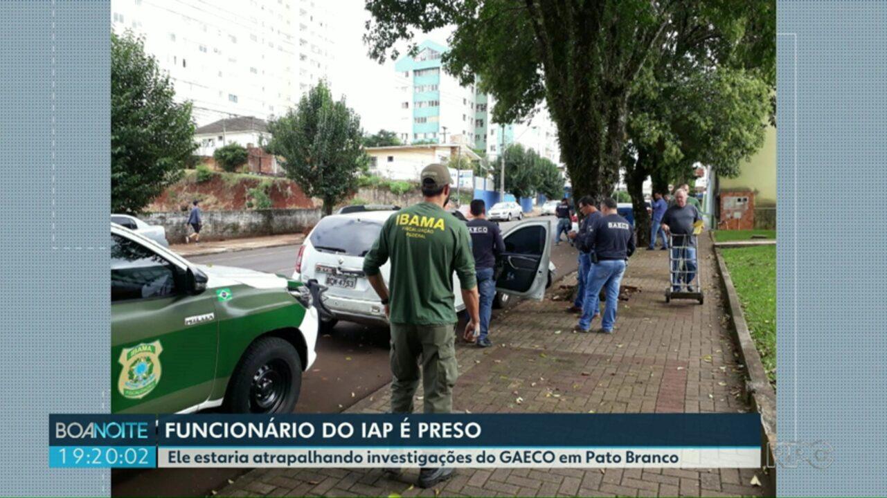 Funcionário do IAP é preso em Pato Branco
