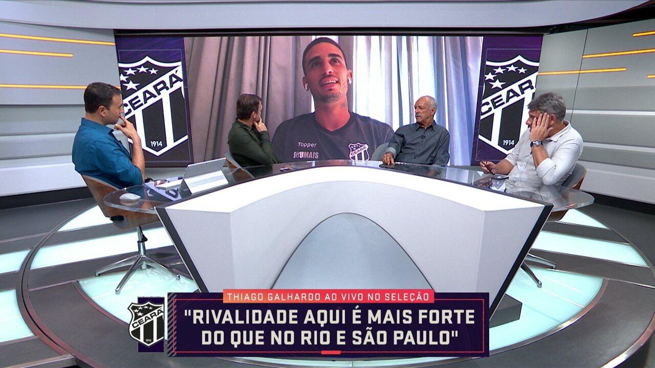 Thiago Galhardo fala sobre a vitória contra o Grêmio e momento no Ceará