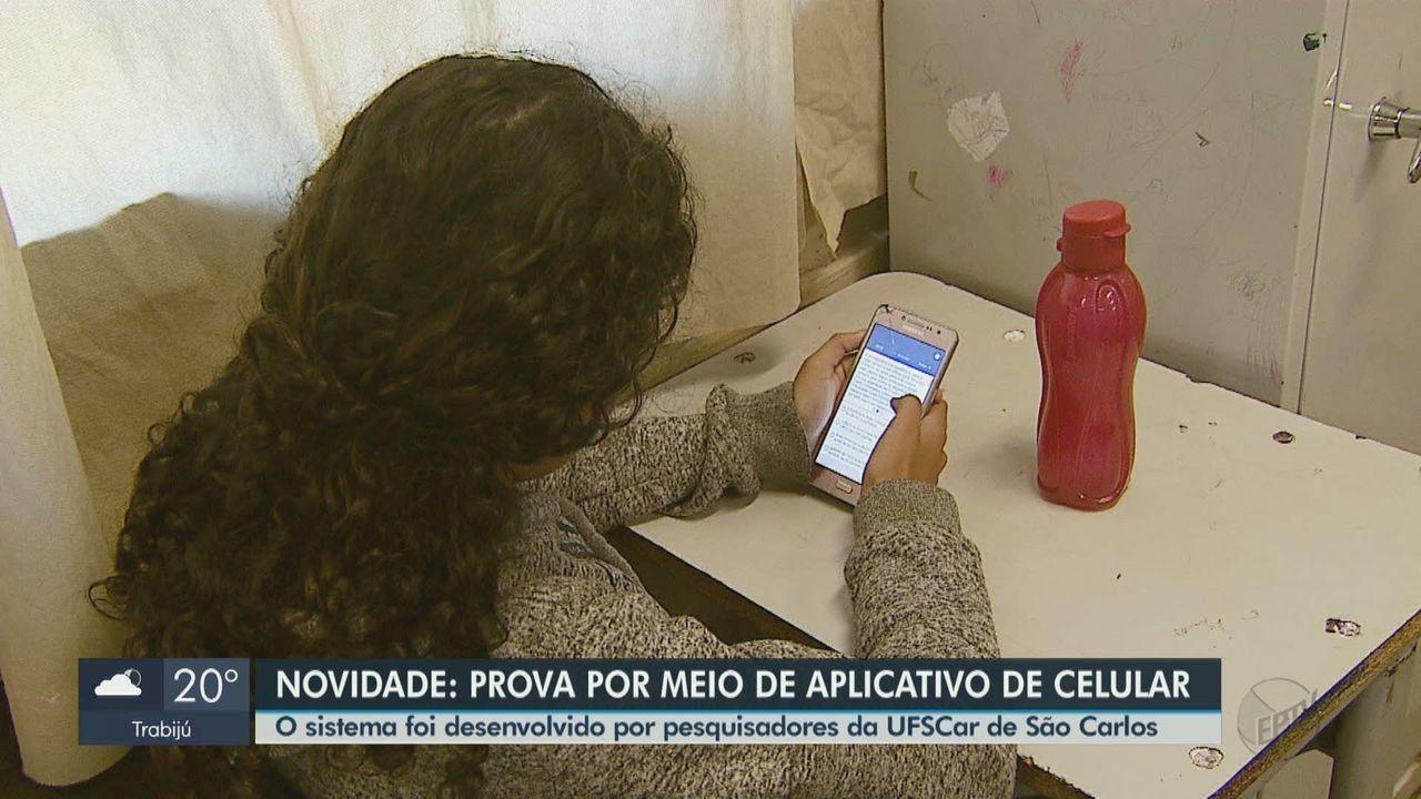Estudantes de São Carlos e região fazem prova através de app de celular feito na UFSCar