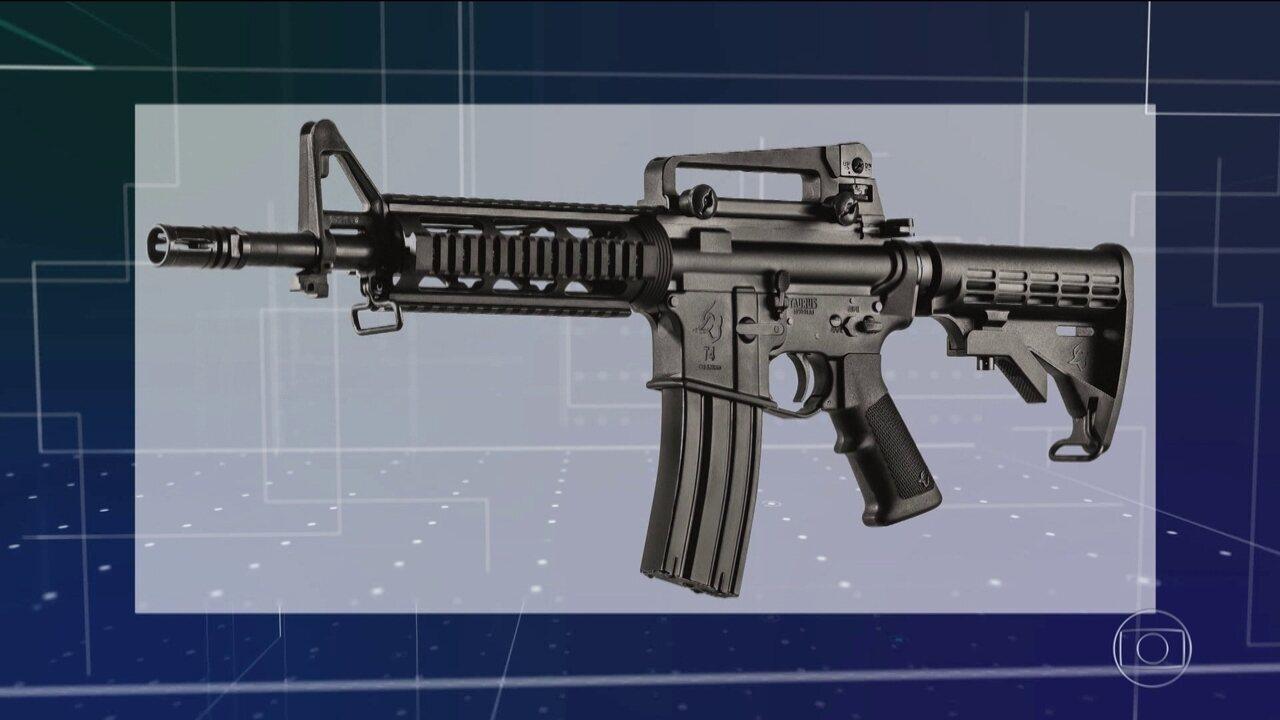 Decreto do governo libera venda de arma de uso restrito das forças policiais
