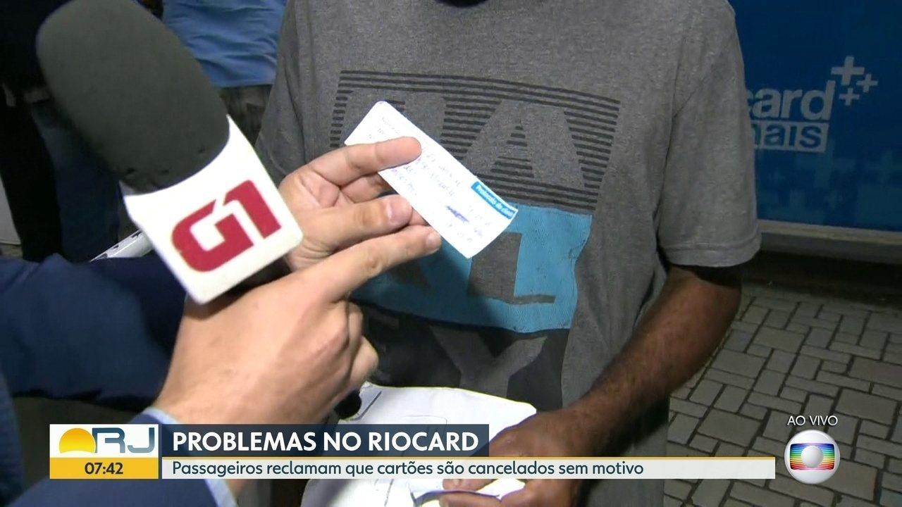 Passageiros reclamam que Riocards são cancelados sem motivo