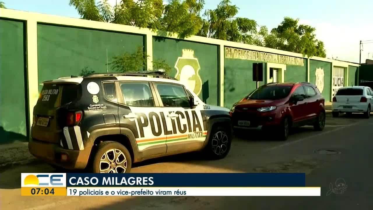 Caso Milagres: 19 policiais e o vice-prefeito viram réus