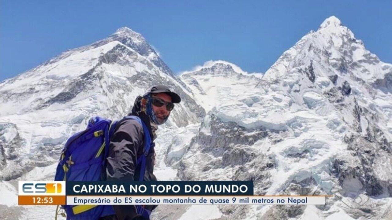 Alpinista capixaba chega ao topo do Everest