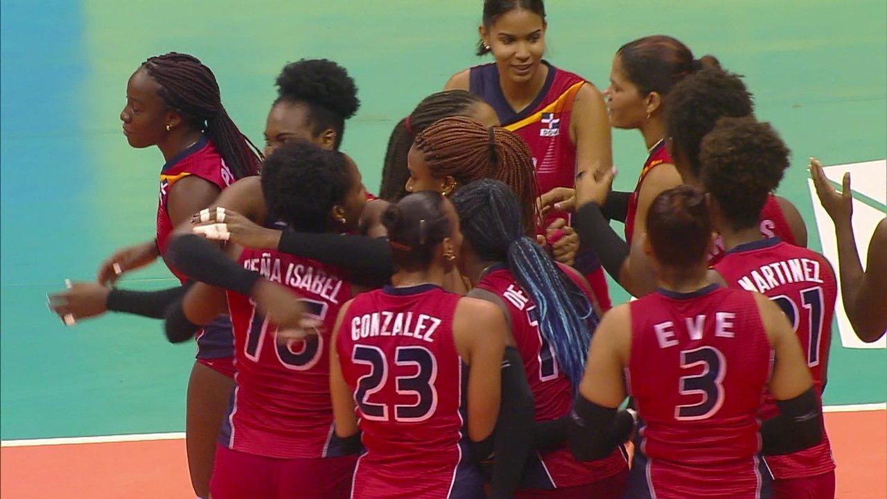 Melhores momentos: República Dominicana 3 x 1 Brasil pela Liga das Nações de Vôlei