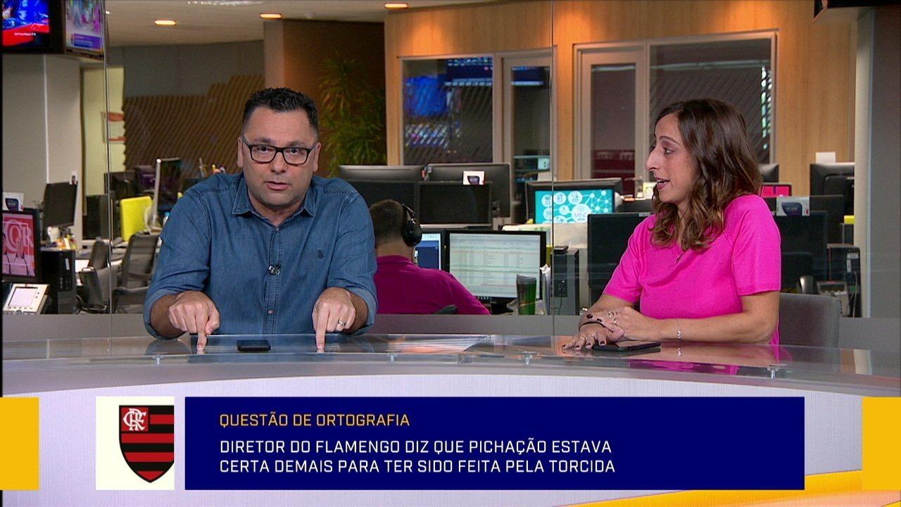 Redação comenta declaração polêmica de diretor do Flamengo sobre pichação na Gávea