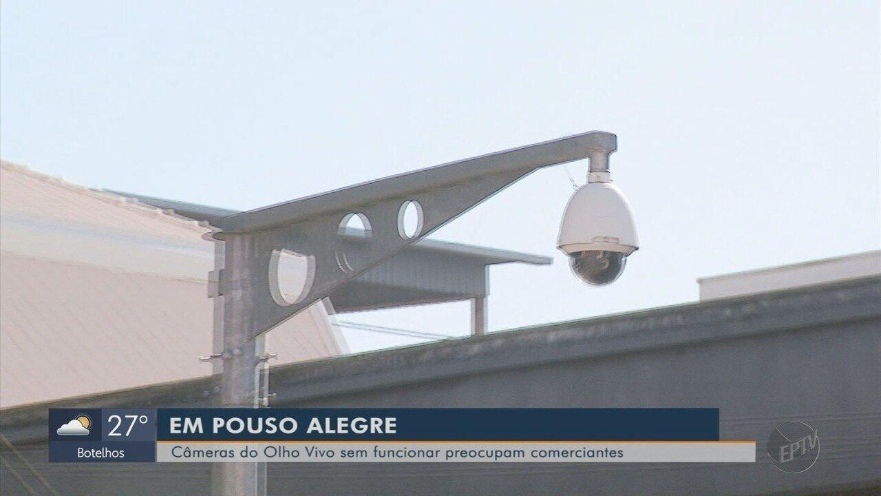 Sistema de monitoramento de Pouso Alegre tem 14 de 16 câmeras sem funcionar
