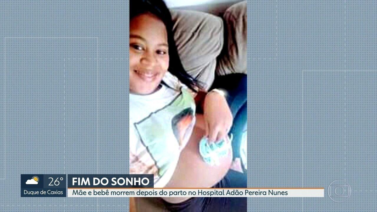 Mãe e bebê morrem durante parto no Hospital Adão Pereira Nunes