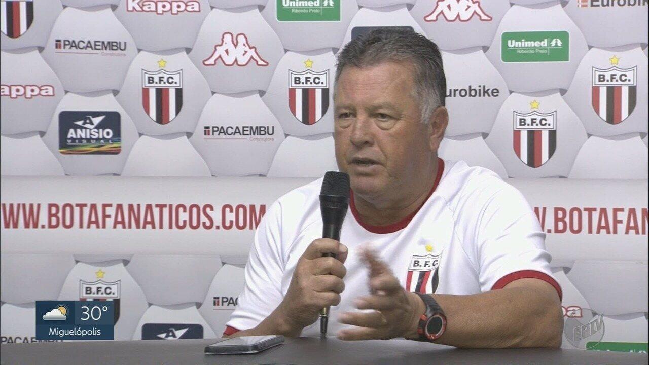 Botafogo-SP faz último treino para partida contra o Operário-PR