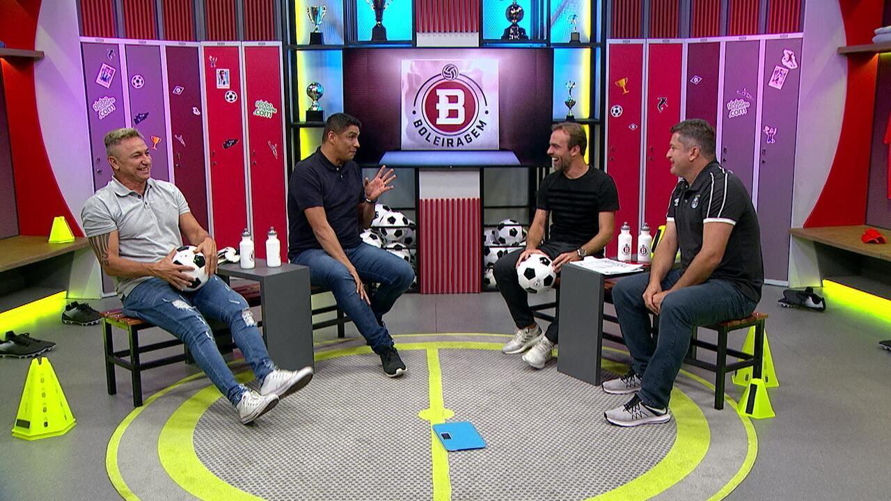 Boleiragem: Roger Flores recebe Paulo Nunes, Jardel e Carlos Miguel