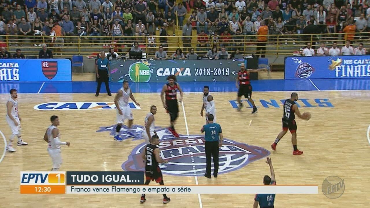 Franca Basquete vence Flamengo no 2º jogo da final do NBB