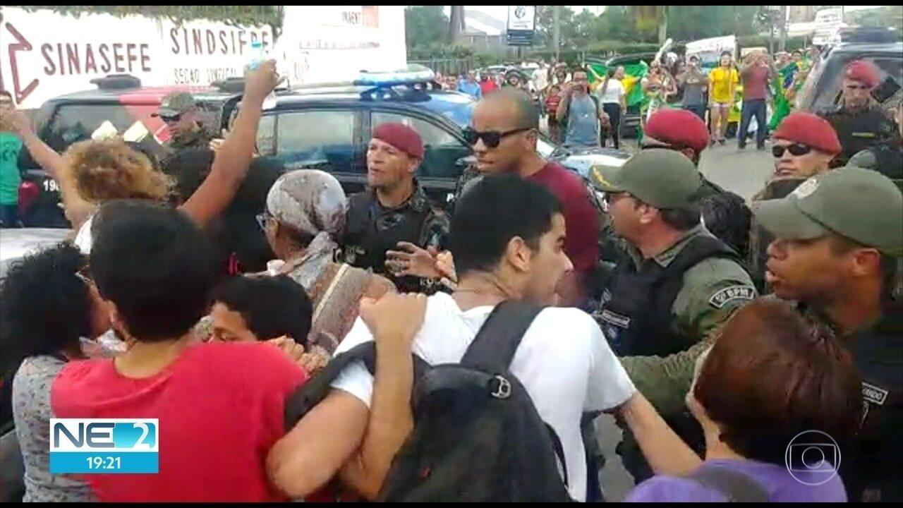 Empresário pede solução para problemas do Nordeste e manifestantes se envolvem em confusão