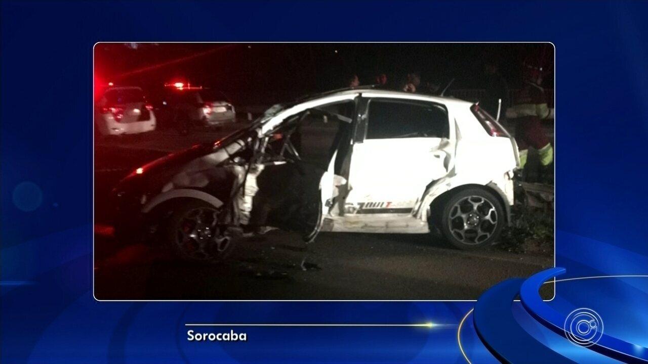 Dois policiais e motorista ficam feridos em acidente na Raposo Tavares em Sorocaba