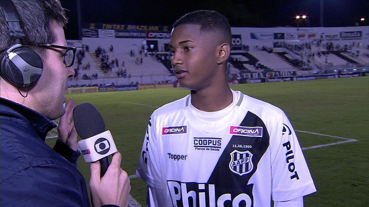 Entrevistas de Roger e Abner da Ponte Preta após a partida.
