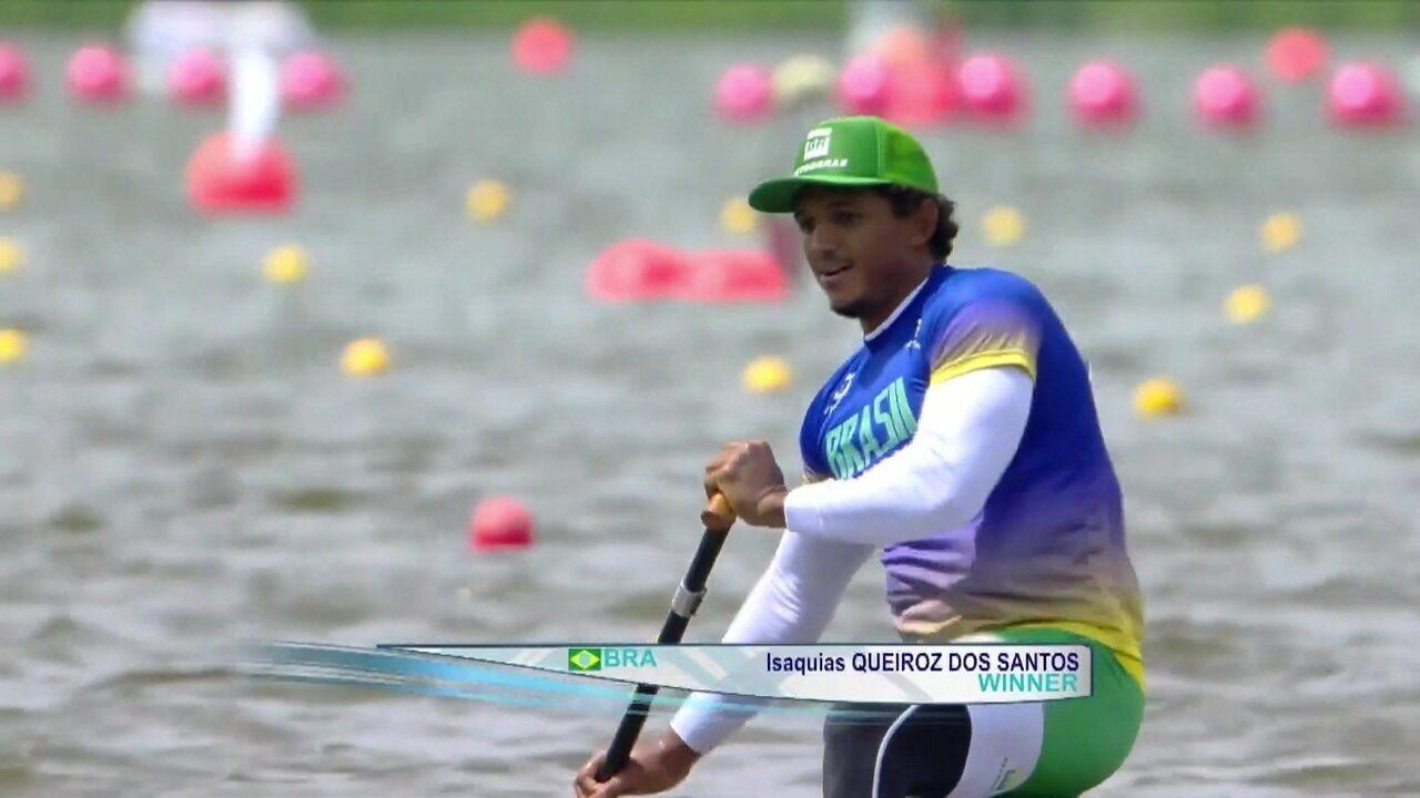 Isaquias Queiroz vence C1 500m na etapa de Poznan, na Polônia, da Copa do Mundo de canoagem velocidade