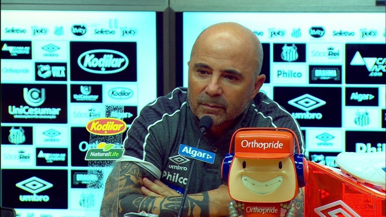 Santos 0 x 0 Internacional: veja a entrevista coletiva de Jorge Sampaoli