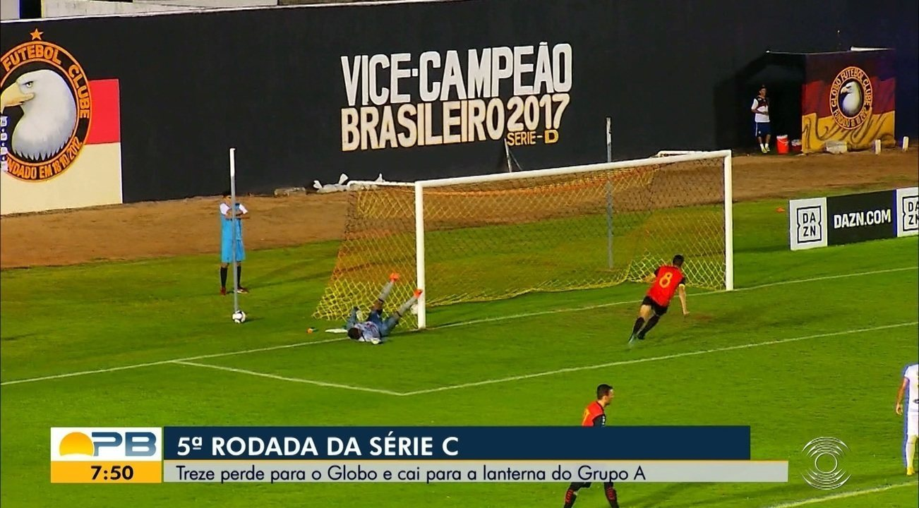 Confira como foi a derrota do Treze para o Globo FC