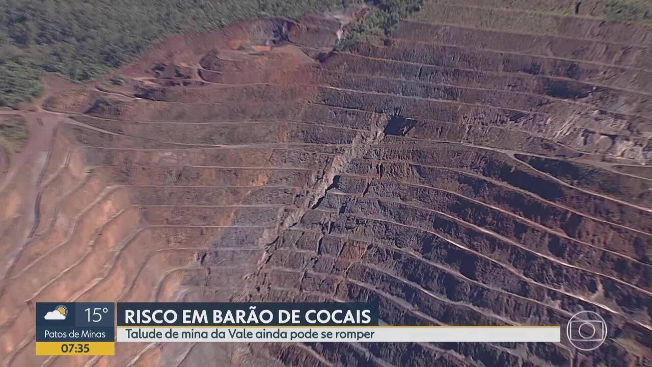 Moradores de Barão de Cocais permanecem apreensivos com situação de talude de mina da Vale