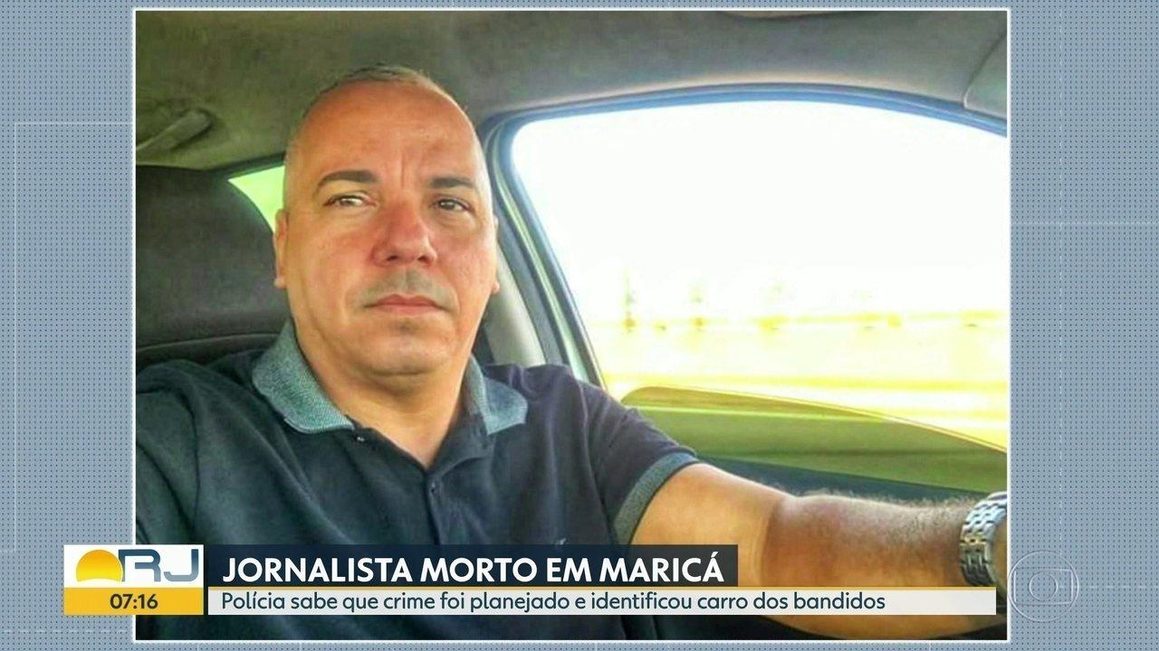 Polícia sabe que assassinato de jornalista em Maricá foi planejado