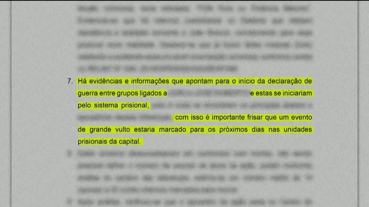 Relatório alertou governo do Amazonas sobre risco de massacre em presídios