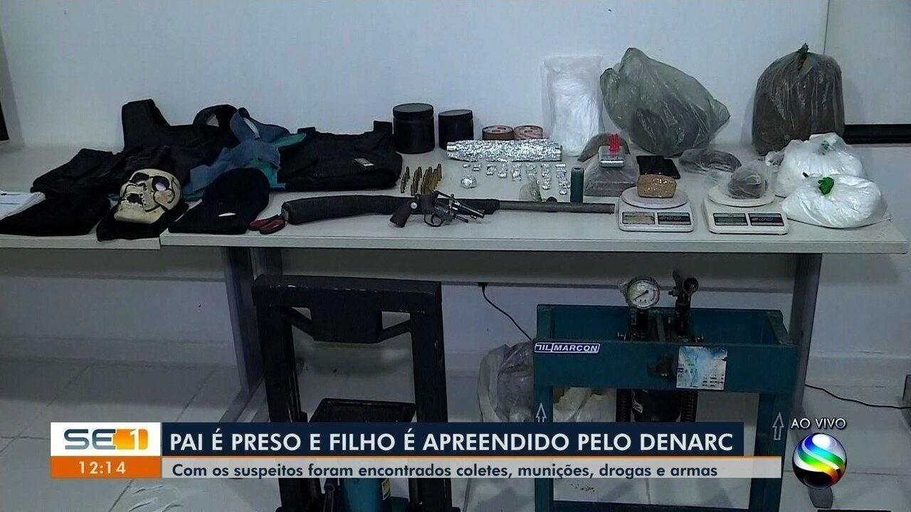Pai e filho adolescente são suspeitos manter laboratório de drogas no Fernando Color