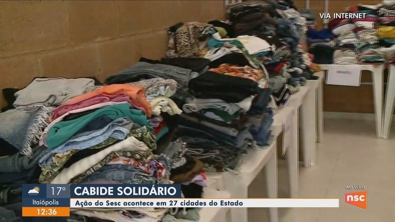 Sesc promove 'Cabide Solidário' em 27 cidades de SC neste fim de semana