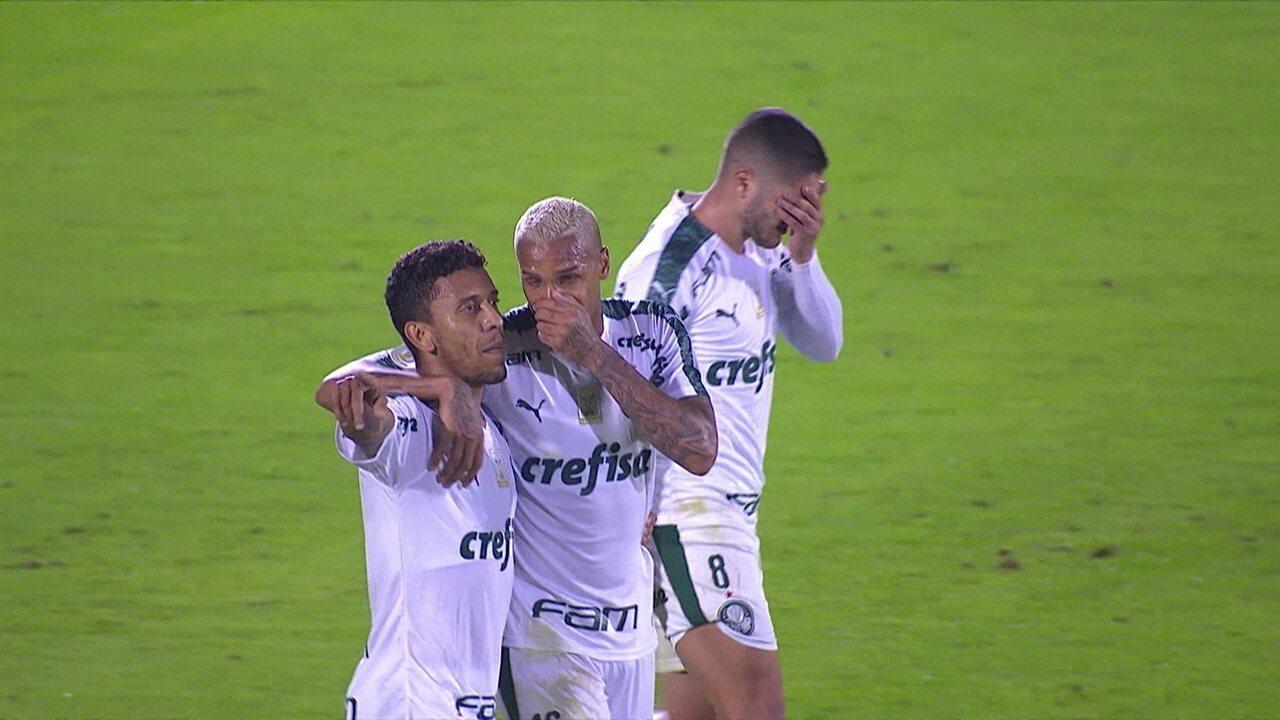 Gol do Palmeiras! Marcos Rocha amplia, aos 44' do 1º tempo