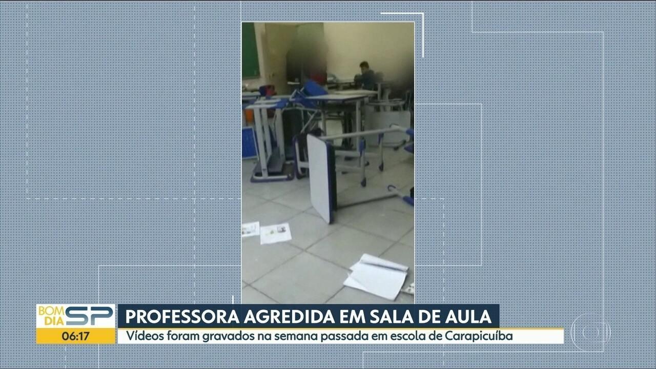 Professora é agredida dentro de sala de aula em Carapicuíba