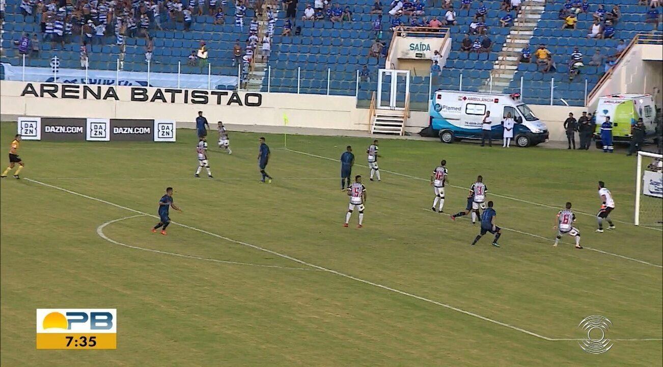 Assista aos gols da vitória do Confiança sobre o Botafogo-PB