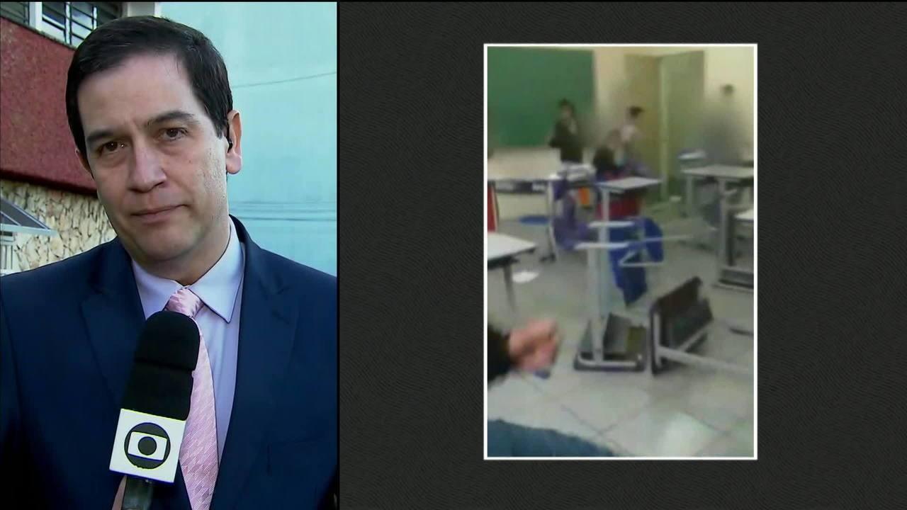 Polícia apreende oito menores que agrediram professora em escola de Carapicuíba, em SP