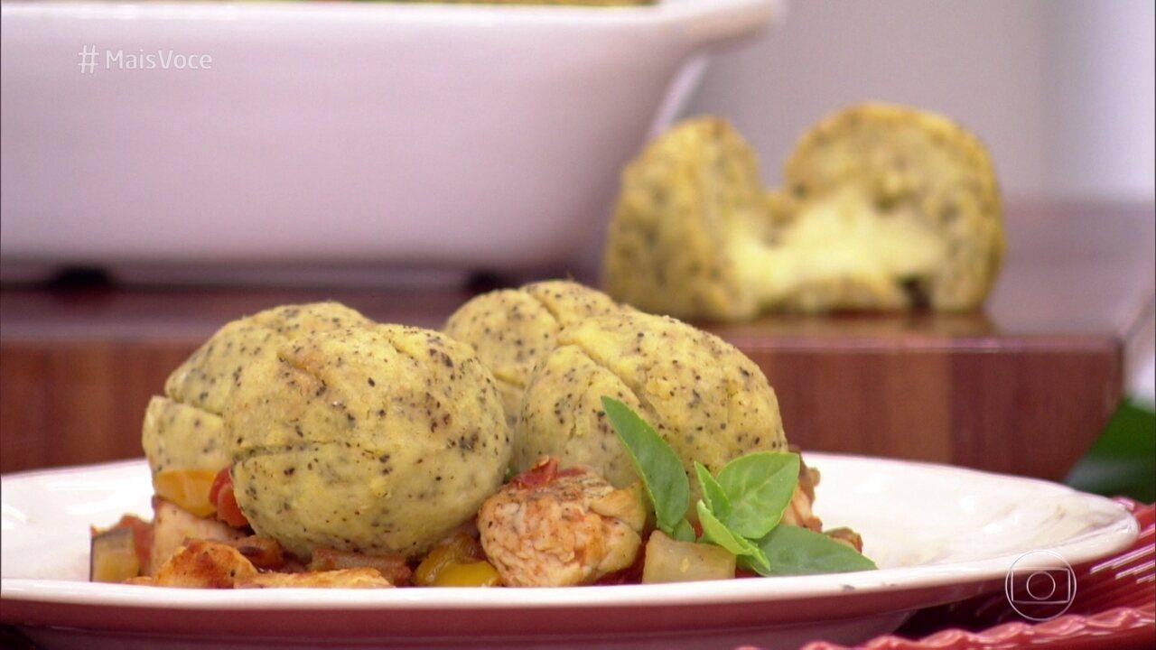 Picadinho de Legumes com Batata-doce tem versão com e sem frango