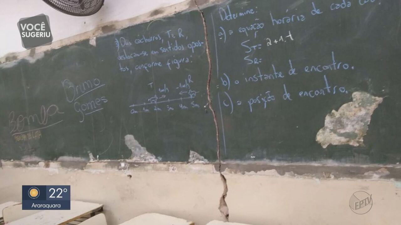 Pais e alunos reclamam de estrutura precária nas escolas de Dourado