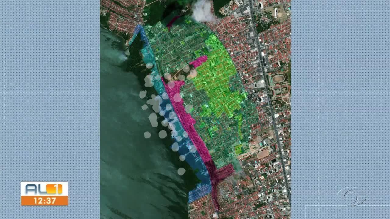 Novo mapa sobre situação de bairros com rachaduras é divulgado em Maceió