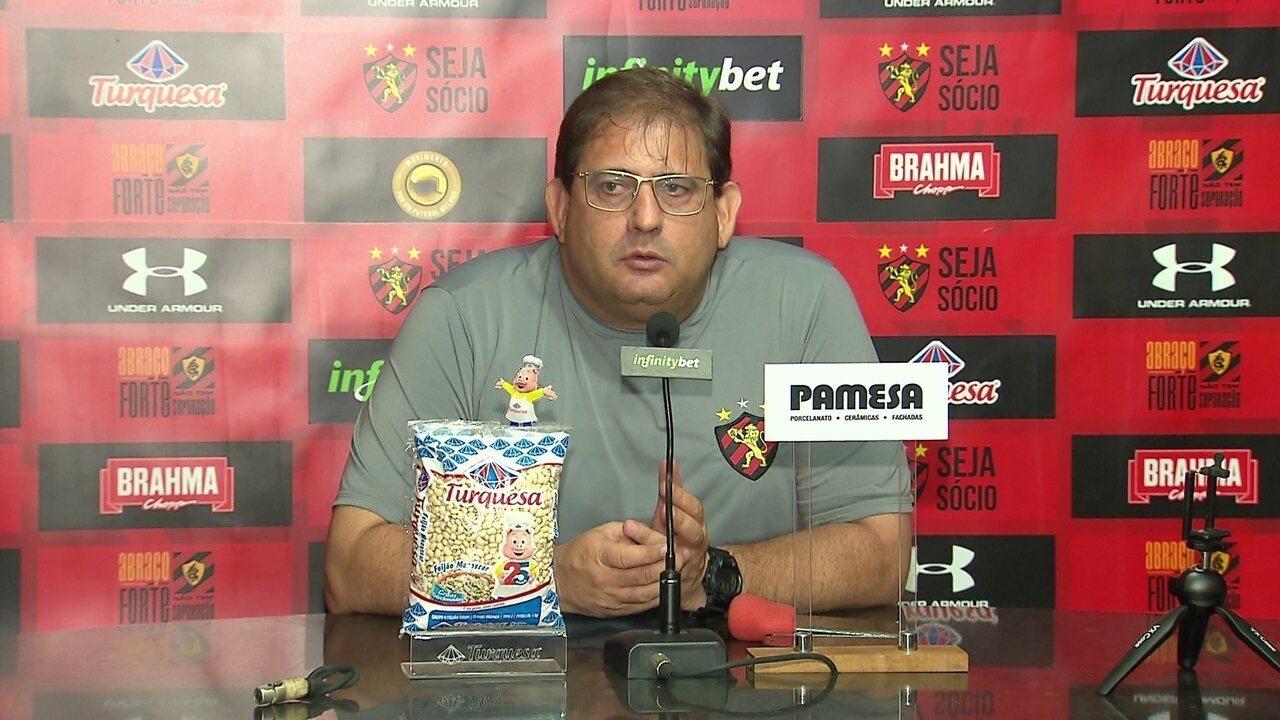 Veja a coletiva de Guto Ferreira, do Sport, na íntegra
