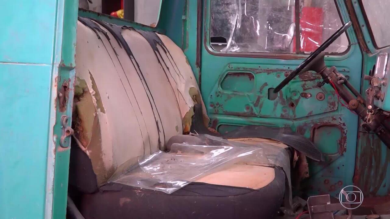 Começa a reforma da caminhonete Rural de Marcio 'Bigorna'
