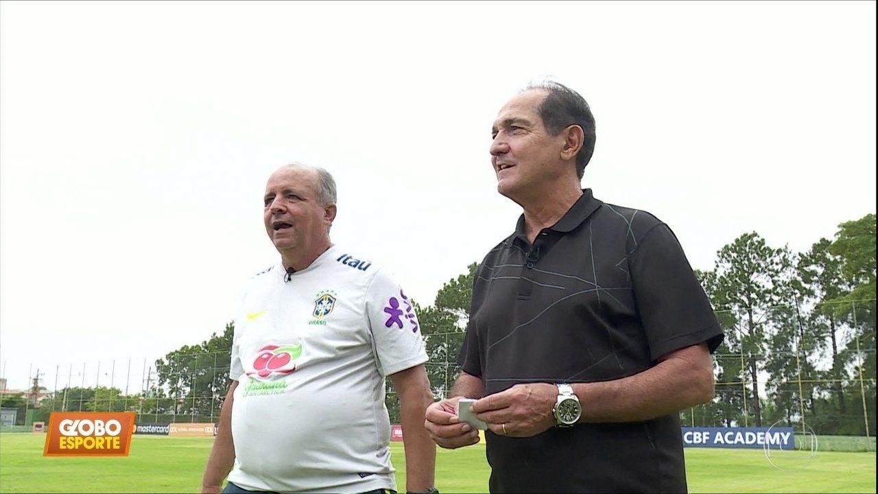 Muricy visita Vadão, técnico da seleção feminina de futebol