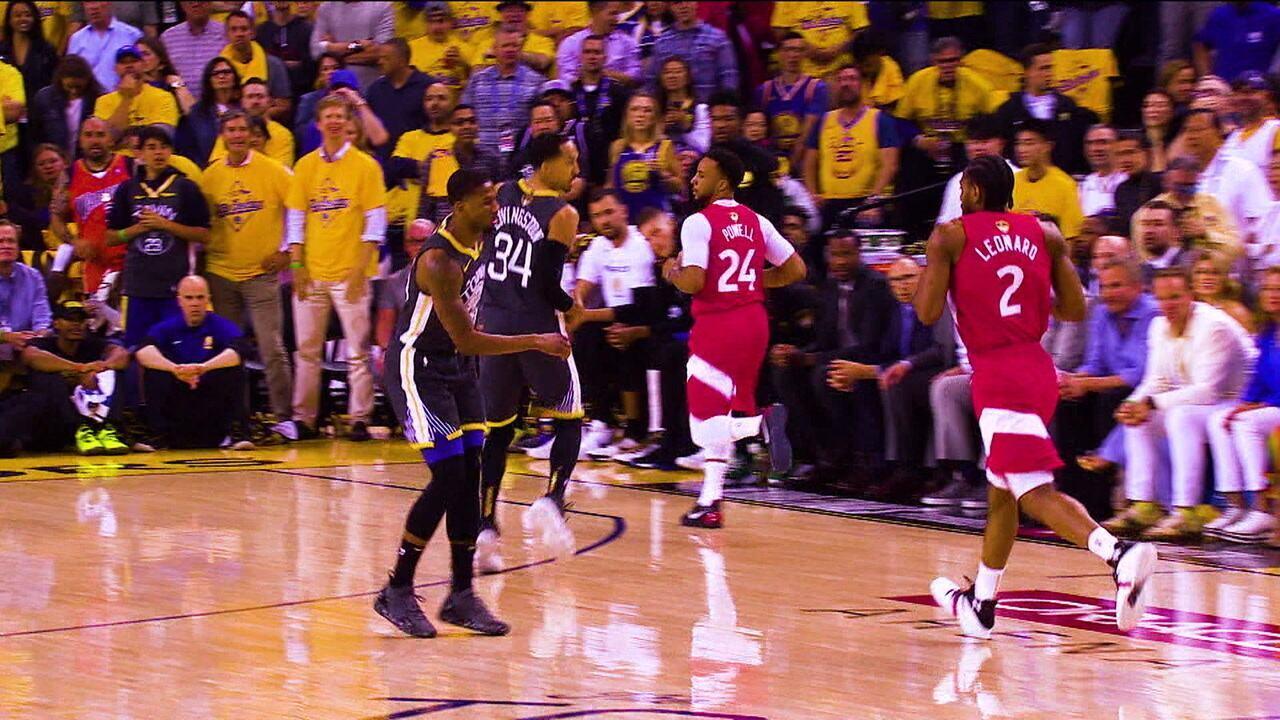 Toronto Raptors surpreende Golden State Warriors e lidera série final da NBA por 3 a 1