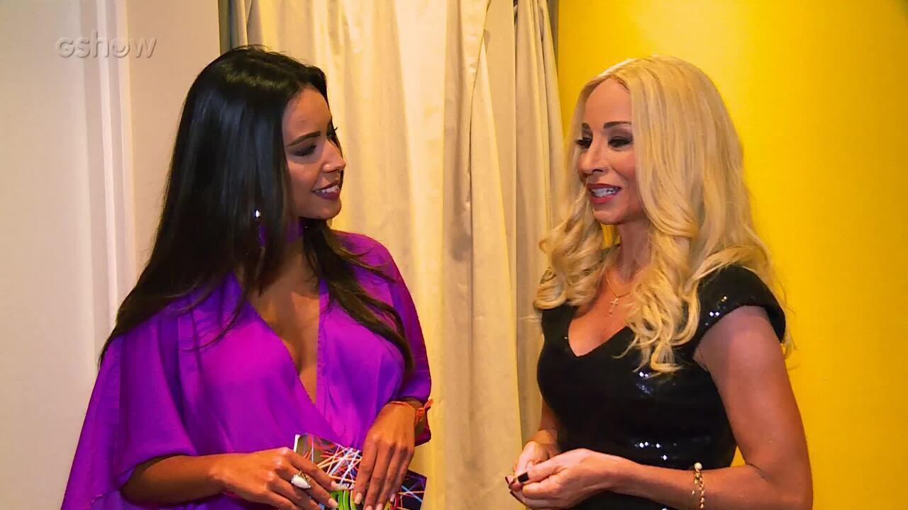 Danielle Winits fala sobre André Gonçalves nos bastidores do 'Show dos Famosos'