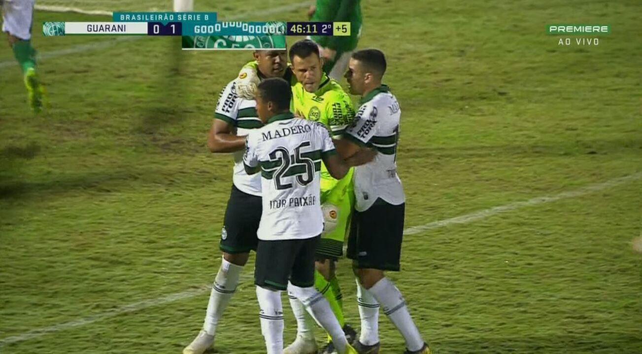 Os melhores momentos de Guarani 0x1 Coritiba pela oitava rodada da Série B