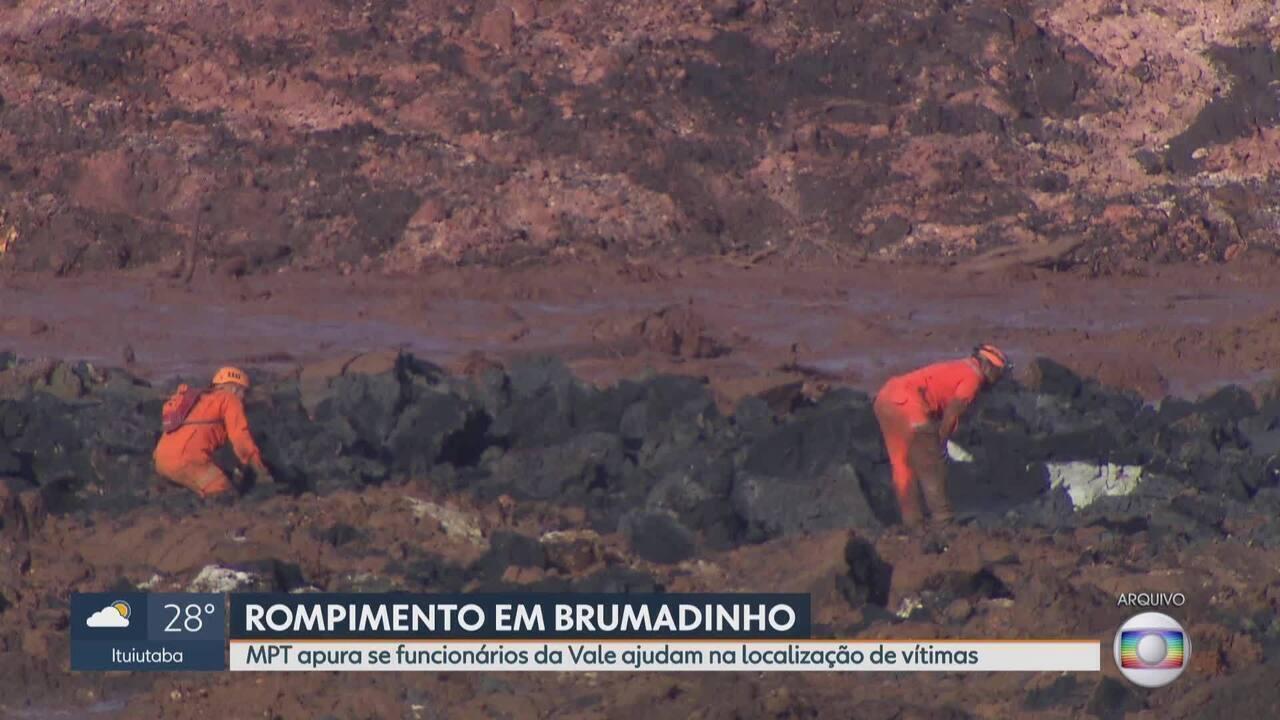MP do Trabalho investiga se funcionários da Vale ajudam nas buscas em Brumadinho