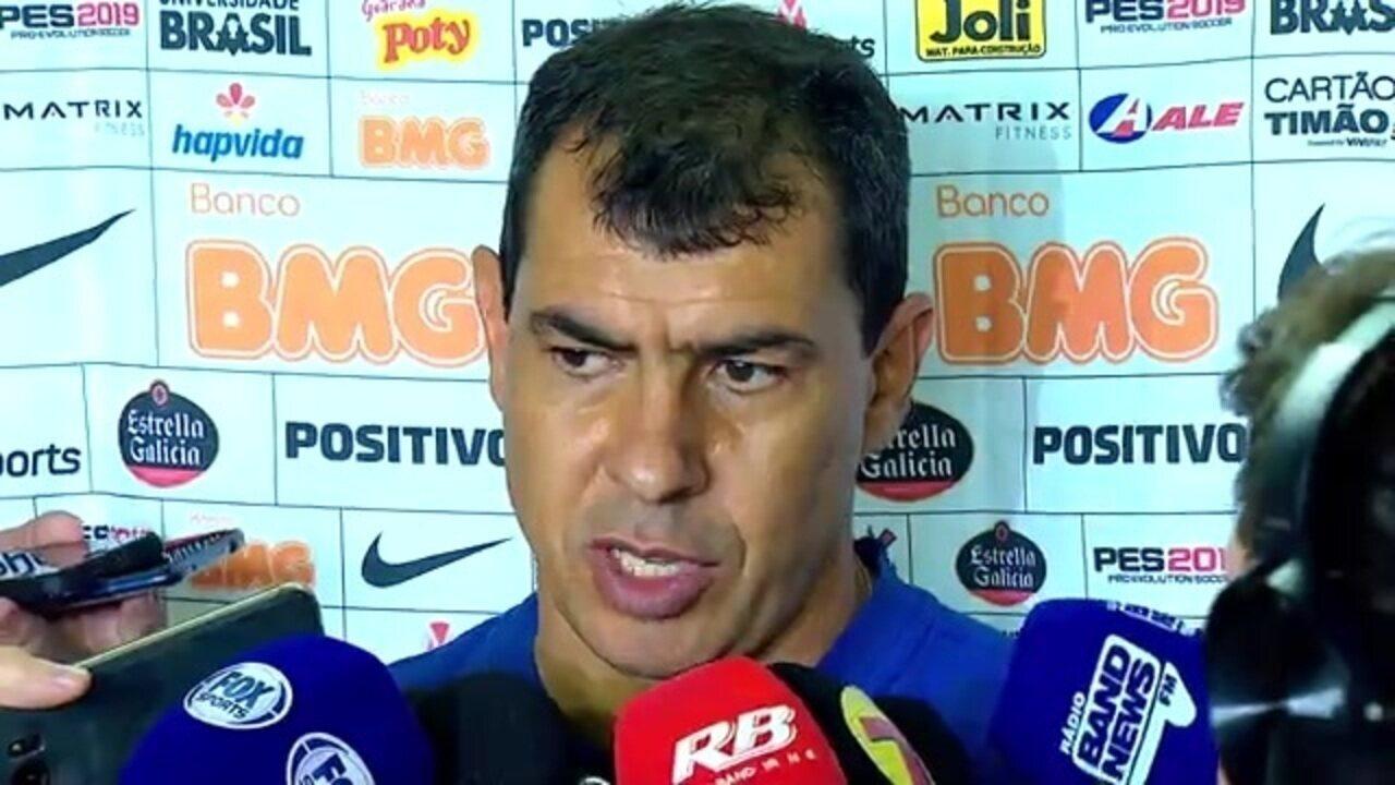 Veja a entrevista coletiva de Fábio Carille após derrota do Corinthians para o Santos