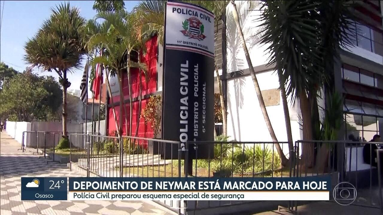 Depoimento de Neymar está marcado para esta quinta-feira (13), em Santo Amaro