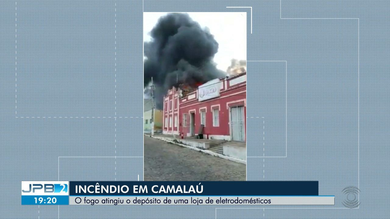 Incêndio atinge depósito de loja de eletrodomésticos na cidade de Camalaú