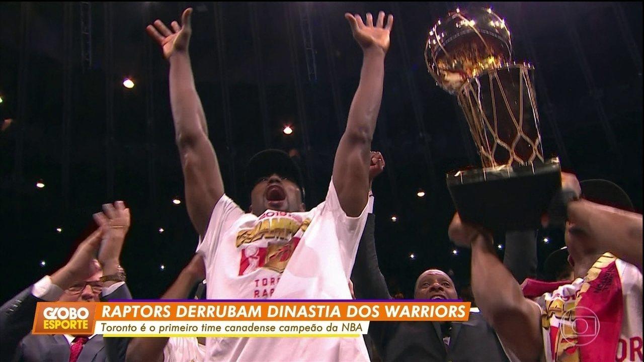 NBA: Toronto vence o Golden State pela quarta vez e conquista o título inédito