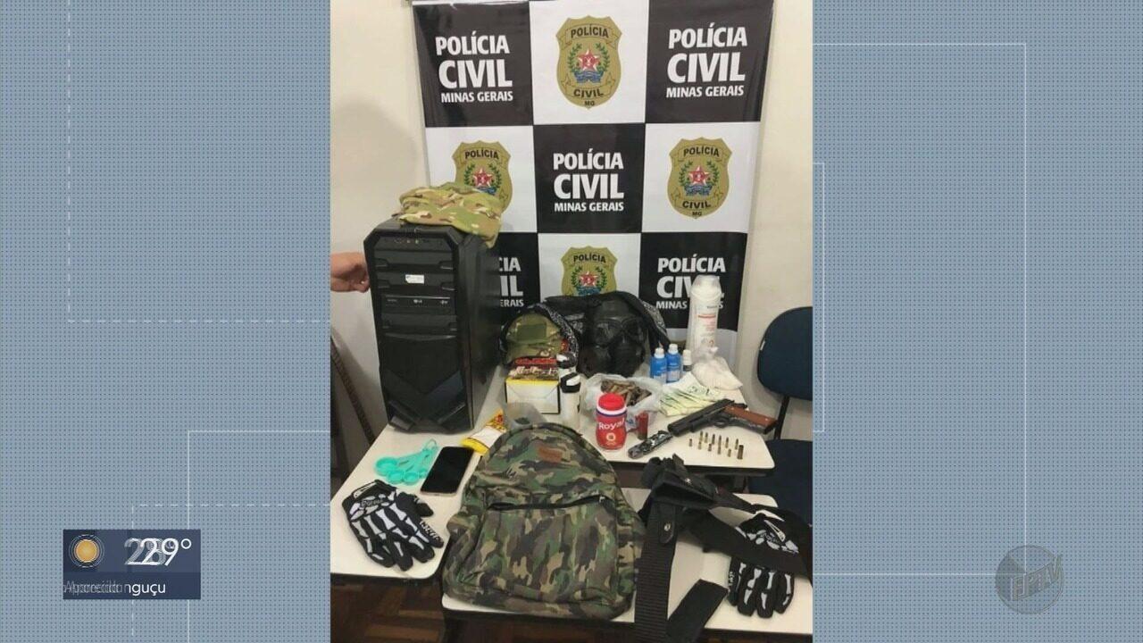Jovens são apreendidos com arma, munições e explosivos em Varginha (MG)