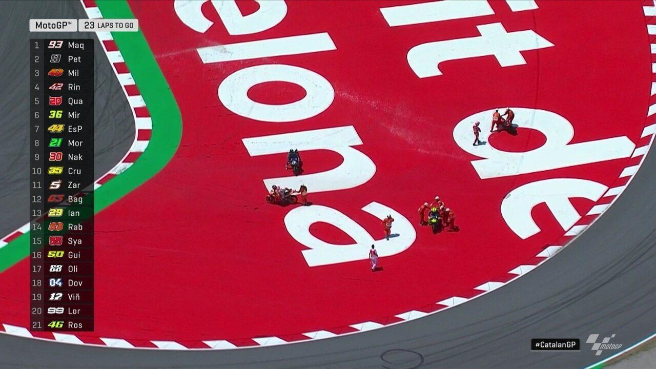 Moto GP tem acidente na curva 10 e quatro motociclistas caem